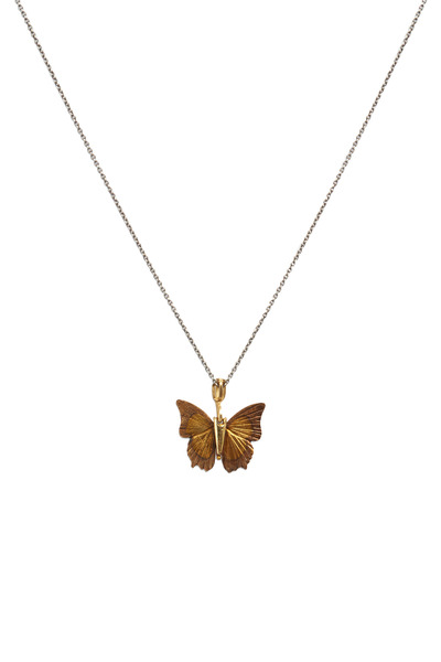 James Banks - Butterfly Yellow Gold Necklace
