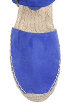 Jimmy Choo - Delfine Cobalt Blue Suede Wedge Espadrille, 50mm