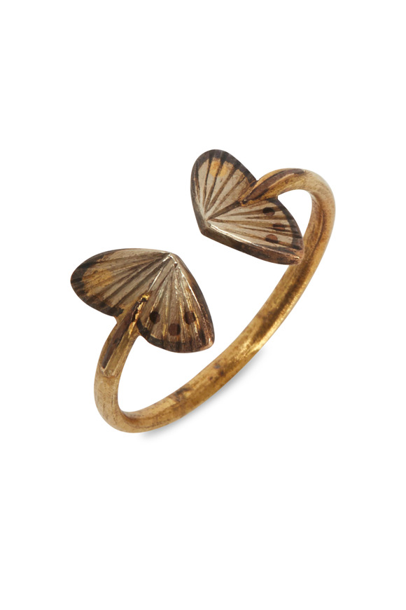 James Banks Butterfly Yellow Gold Ring