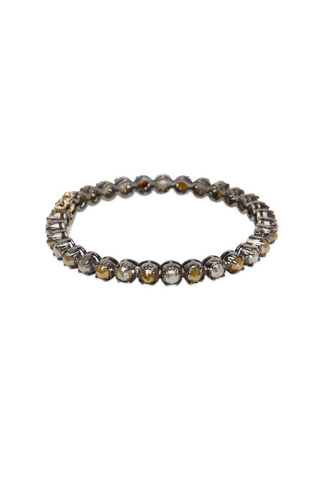Sterling Silver Multi Diamond Bangle Bracelet