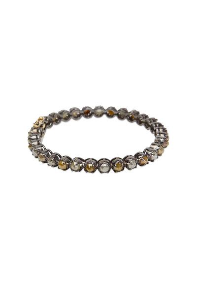 Loren Jewels - Sterling Silver Multi Diamond Bangle Bracelet
