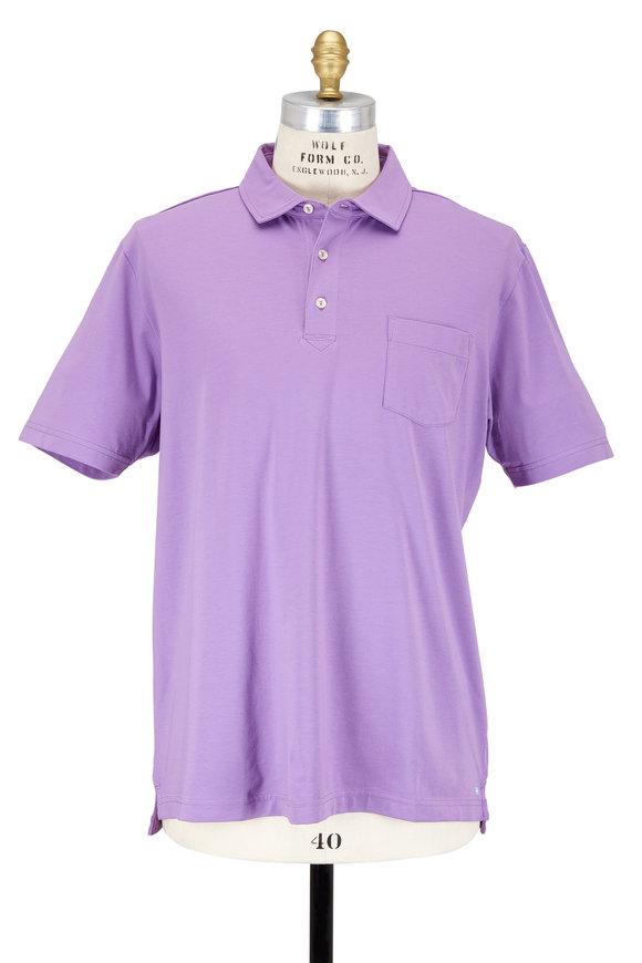 Peter Millar Purple Seaside Wash Polo