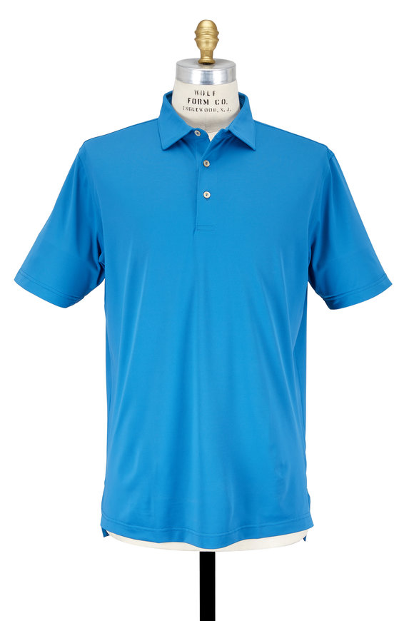 Peter Millar Mediterrian Blue Performance Polo