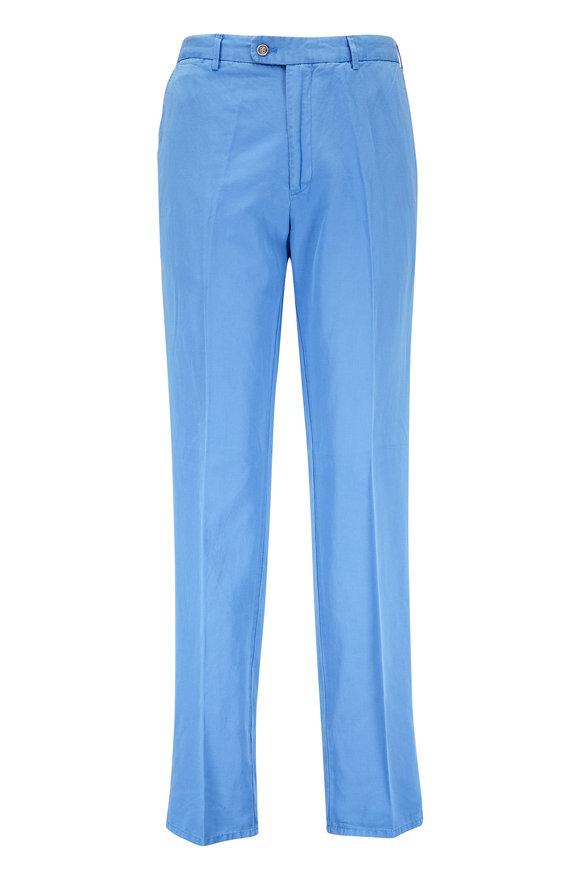 Peter Millar Pacific Sailing Blue Linen & Cotton Pant