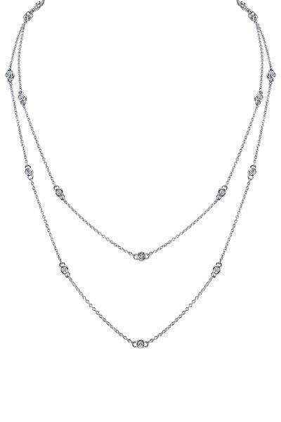 Aaron Henry - Diamond White Gold Small Link Necklace