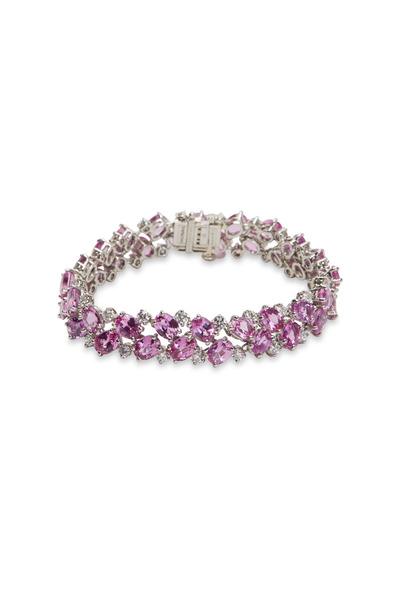 Oscar Heyman - Platinum Pink Sapphire White Diamond Bracelet