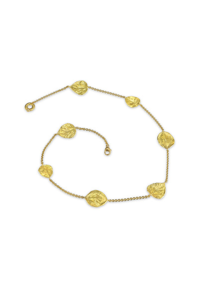 Aaron Henry - Yellow Gold Aspen Leaves Necklace