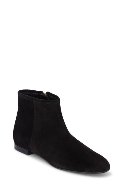 Delman - Mason Black Suede Ankle Boot