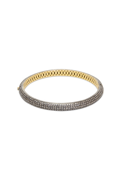 Loren Jewels - Gold & Silver Pavé-Set Diamond Narrow Bracelet