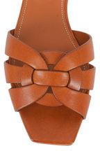 Saint Laurent - Nu Peids 05 Amber Woven Leather Slide