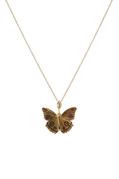 James Banks - Butterfly Yellow Gold Buckeye Necklace