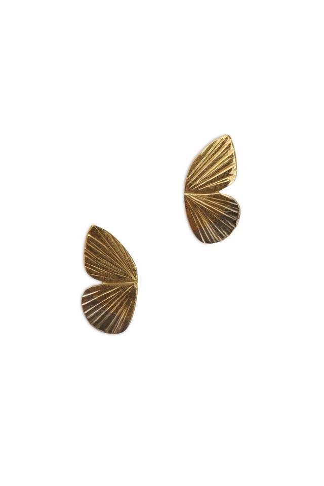 Butterfly Gold & Silver Earrings