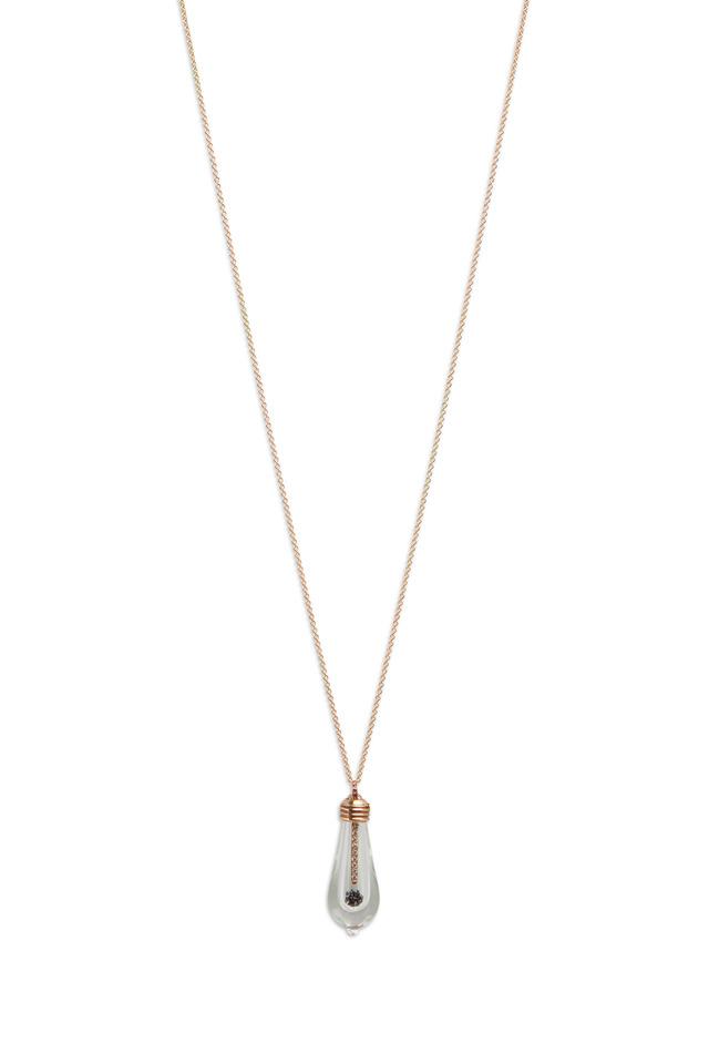 Rose Gold Pavé-Set Diamond Lightkeeper Necklace