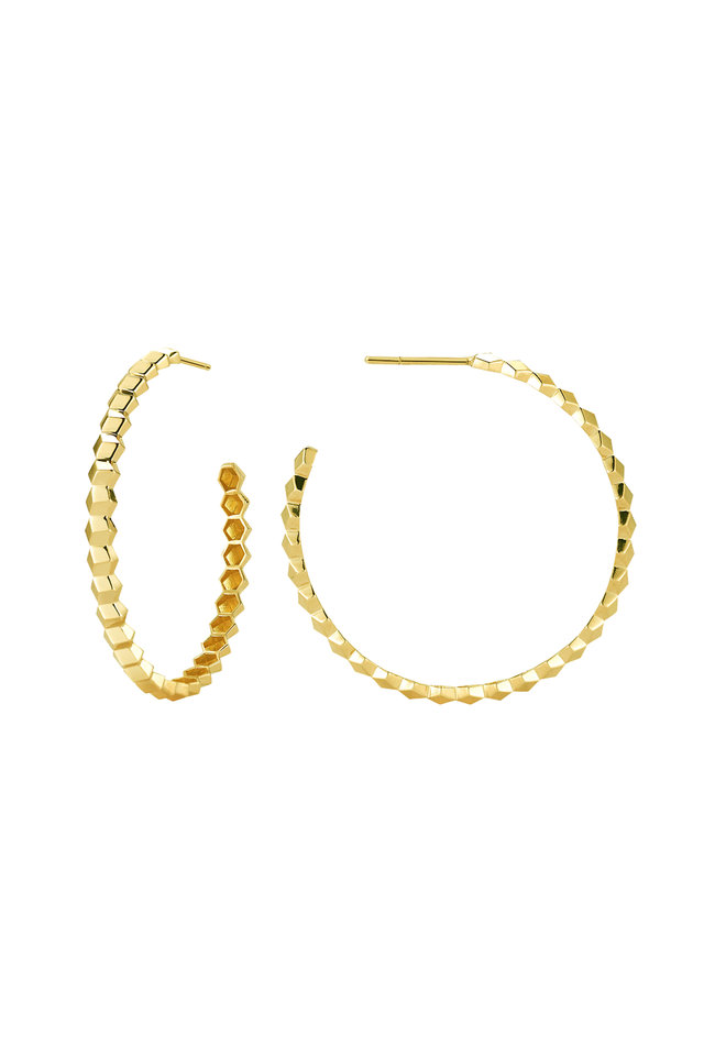 Yellow Gold Brilliante Hoops