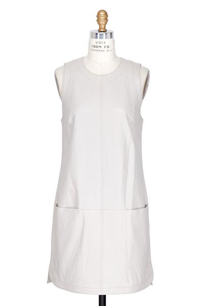 Elizabeth & James - Karlee Pumice Leather A-Line Sleeveless Dress