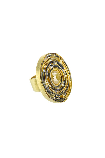 Todd Reed - 18K Yellow Gold & Silver Fancy Diamond Ring