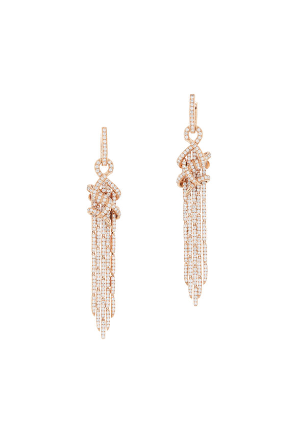 Stephen Webster 18K Gold Diamond Forget Me Knot Cascade Earrings