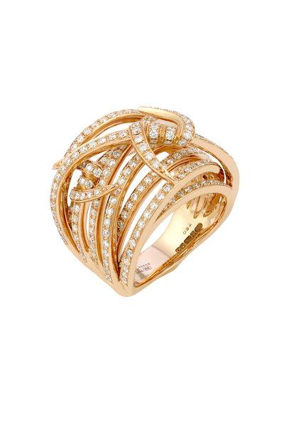 Stephen Webster - 18K Rose Gold Diamond Forget Me Knot Ring