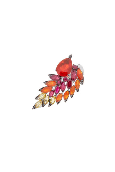 Stephen Webster - 18K Gold Fire Opal & Diamond Magnipheasant Ring