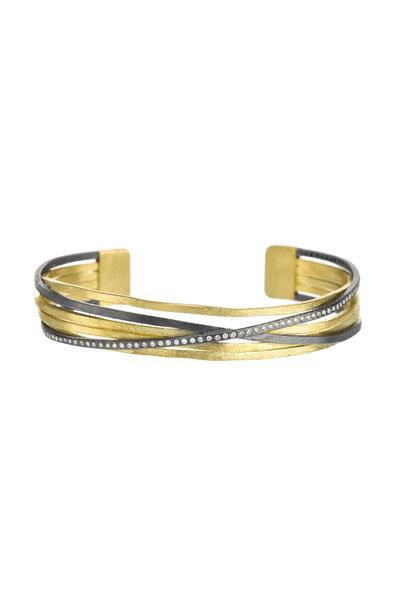 Todd Reed - 18K Yellow Gold & Silver Diamond Cuff Bracelet