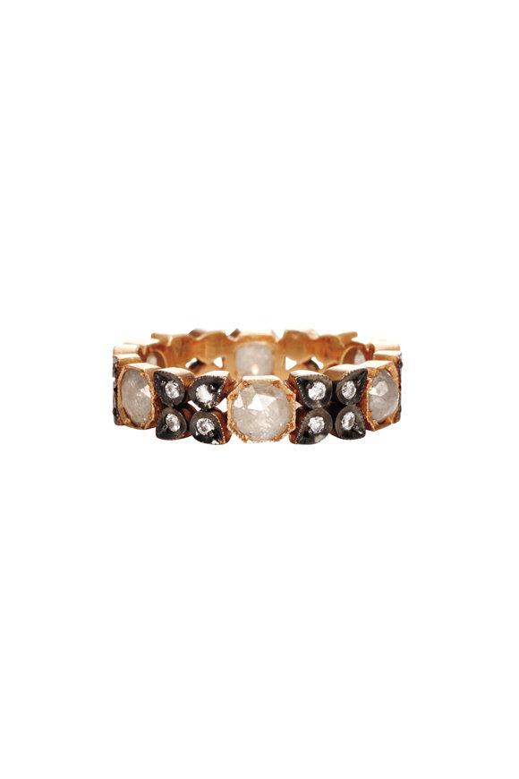 Sylva & Cie 14K Rose Gold Rough Diamond Flower Ring