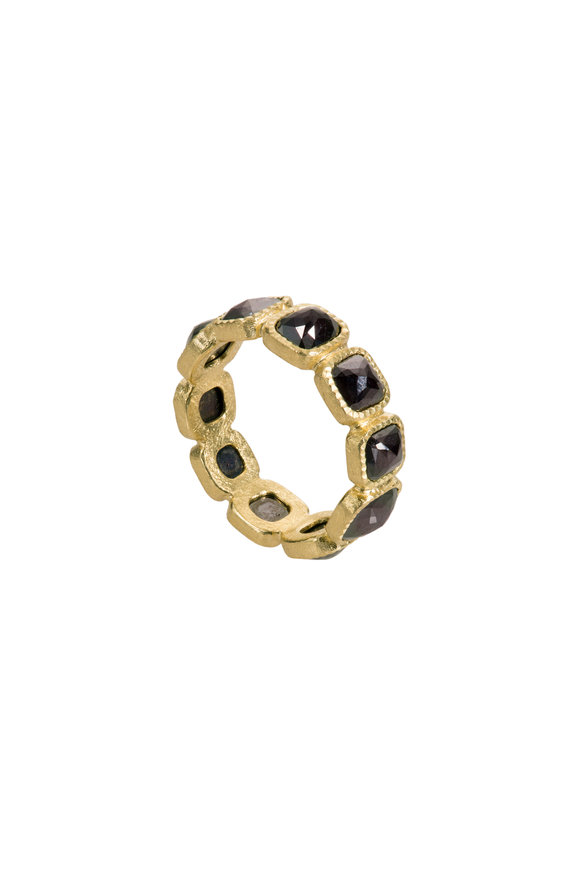 Todd Reed 18K Yellow Gold Black Fancy Diamond Eternity Band
