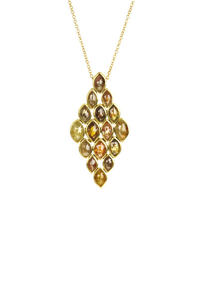 Todd Reed - 18K Yellow Gold Fancy Diamond Necklace