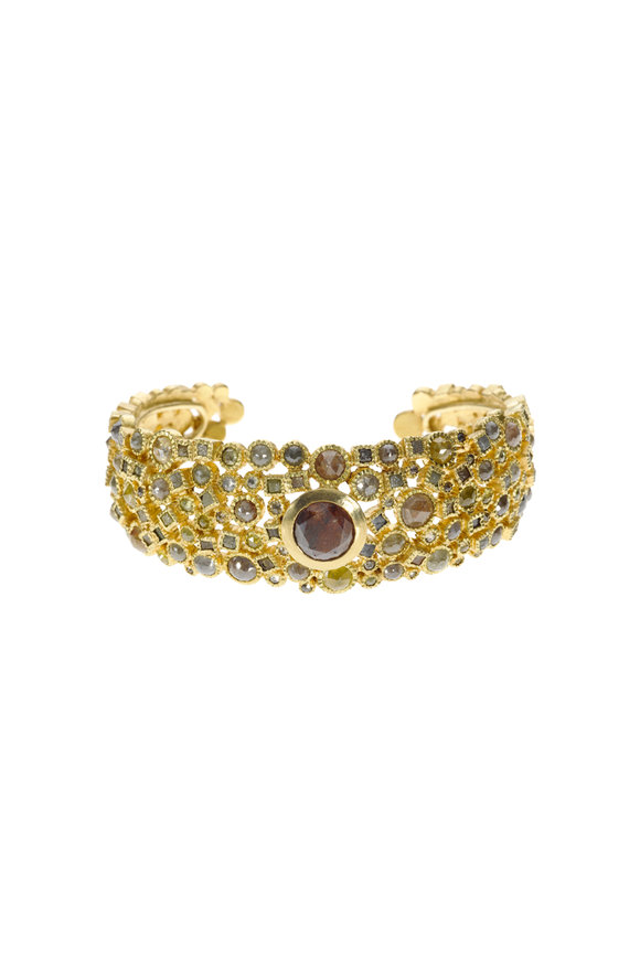 Todd Reed 18K Yellow Gold Diamond Bracelet