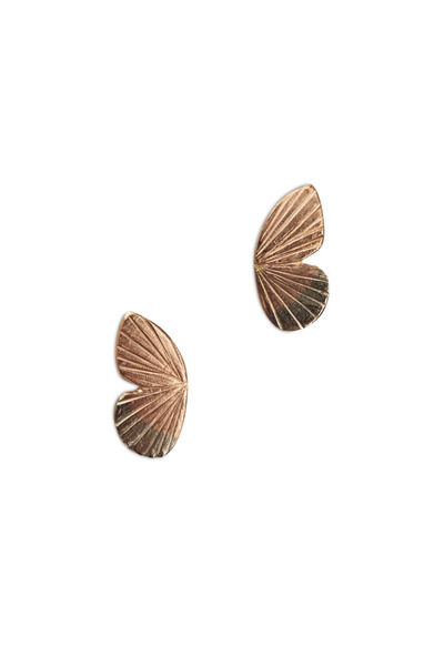 James Banks - Butterfly Rose Gold Wing Earrings