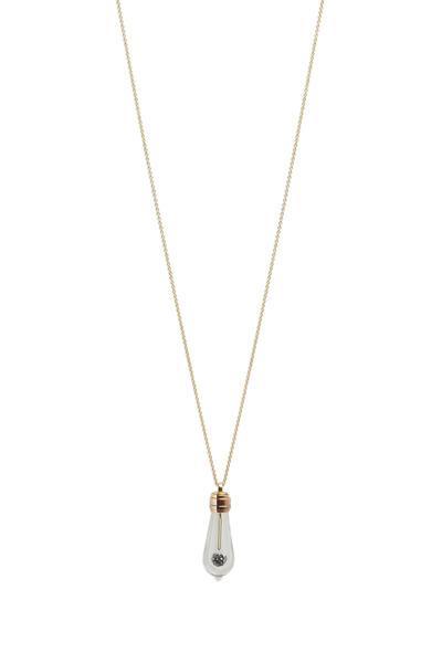James Banks - Gold Black Diamond & Ruby Lightkeeper Necklace