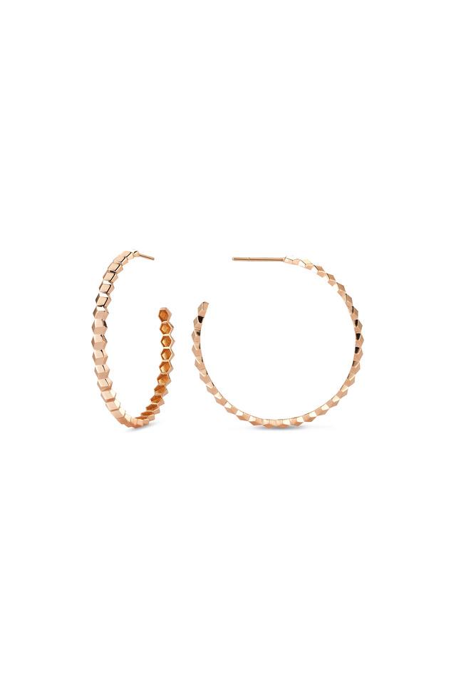 18K Rose Gold Hoops
