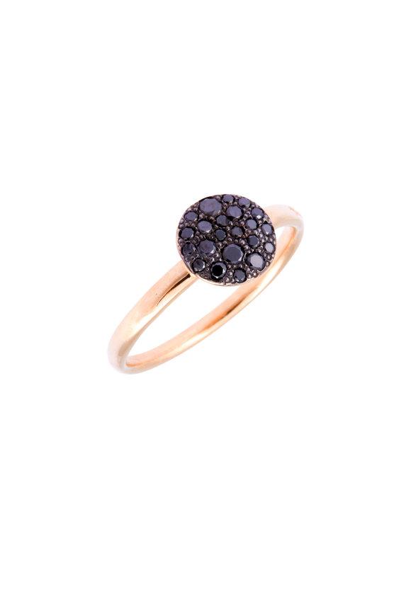 Pomellato Rose Gold Black Diamond Sabbia Ring