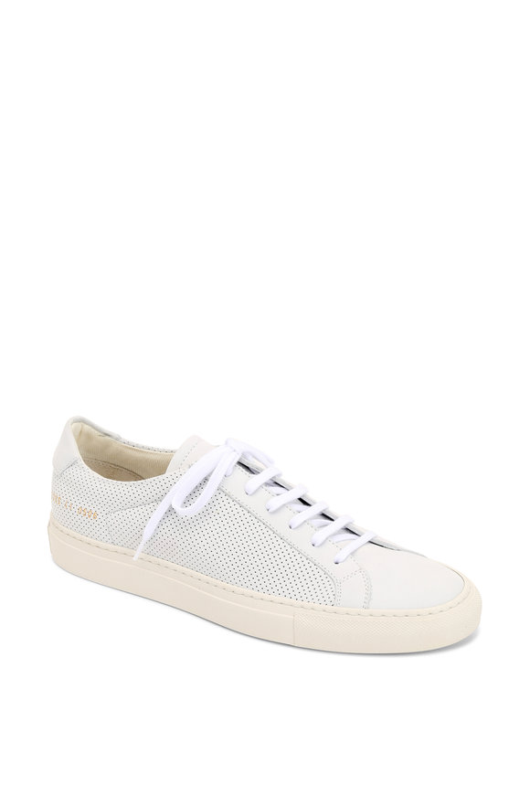 Common Projects Achilles Summer White Perforated Nubuck Sneaker