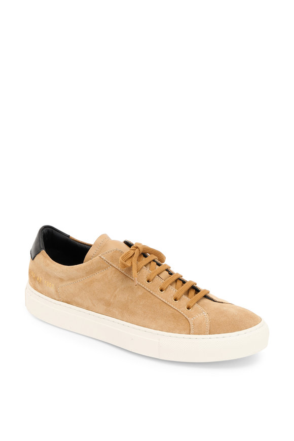 Common Projects Achilles Retro Low Tan Suede Sneaker