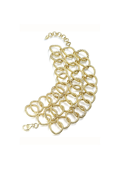 Coomi - Yellow Gold Diamond Eternity Wrap Bracelet