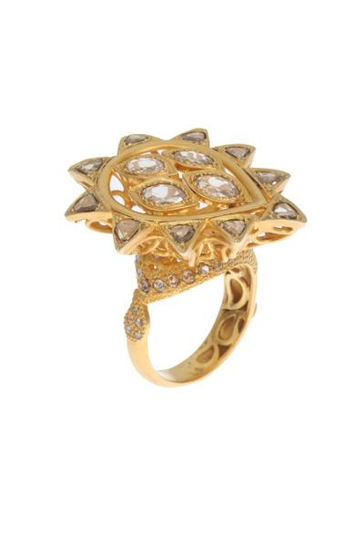 Coomi - Luminosity Yellow Gold White Diamond Ring