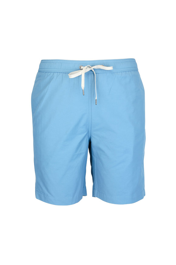 Onia Charles Solid Sky Blue Swim Trunks