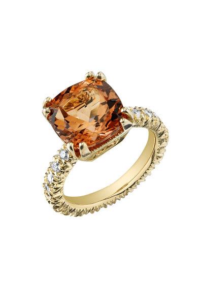 Aaron Henry - Pink Gold Pink Tourmaline Diamond Ring