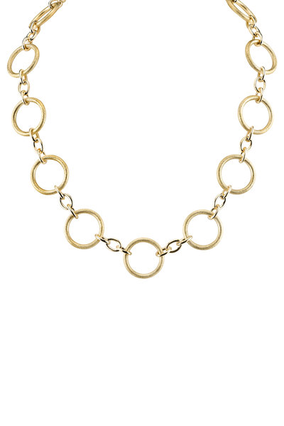 Aaron Henry - Yellow Gold Circle Choker Necklace