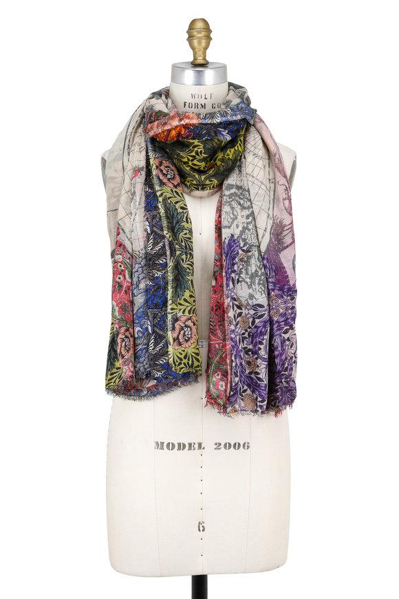Faliero Sarti Magic World Multicolor Silk Blend Scarf