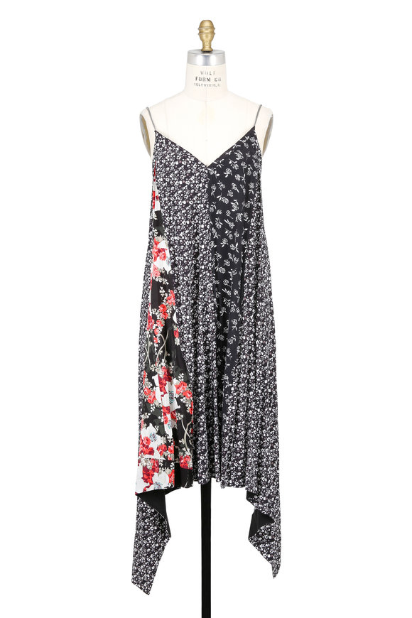 Rag & Bone Londar Mixed Media Floral Print Sleeveless Dress