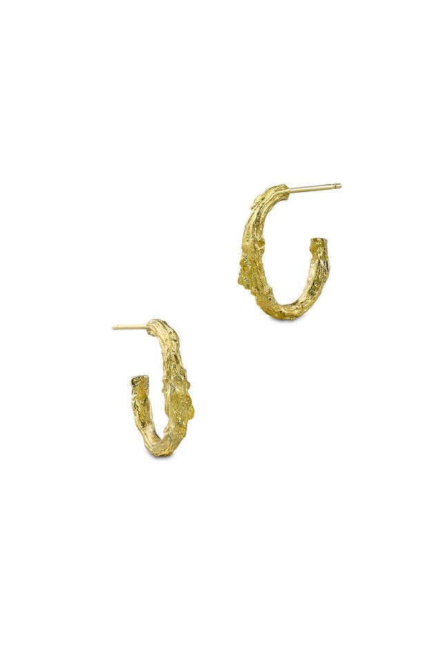 Yellow Gold Small Branch Hoops