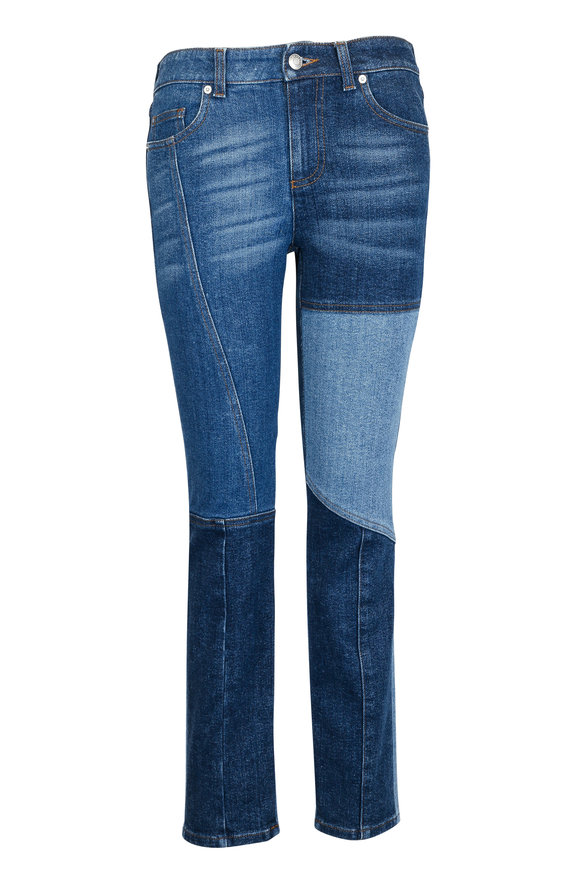 Alexander McQueen Patch Work Straight Jean