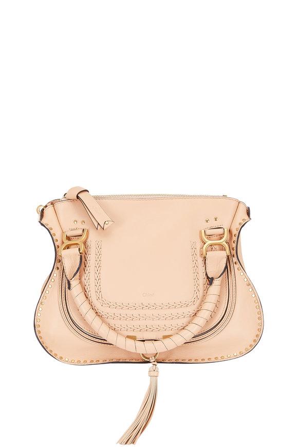 Chloé Marcie Nude Leather Medium Shoulder Bag