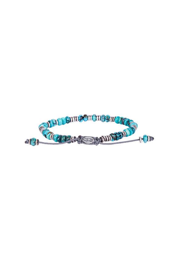 M. Cohen Turquoise Templar Disc & Stacked Gem Bracelet