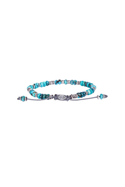 M. Cohen - Turquoise Templar Disc & Stacked Gem Bracelet