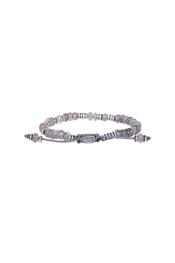 M. Cohen Templar Disc Labradorite Gemstone Bracelet
