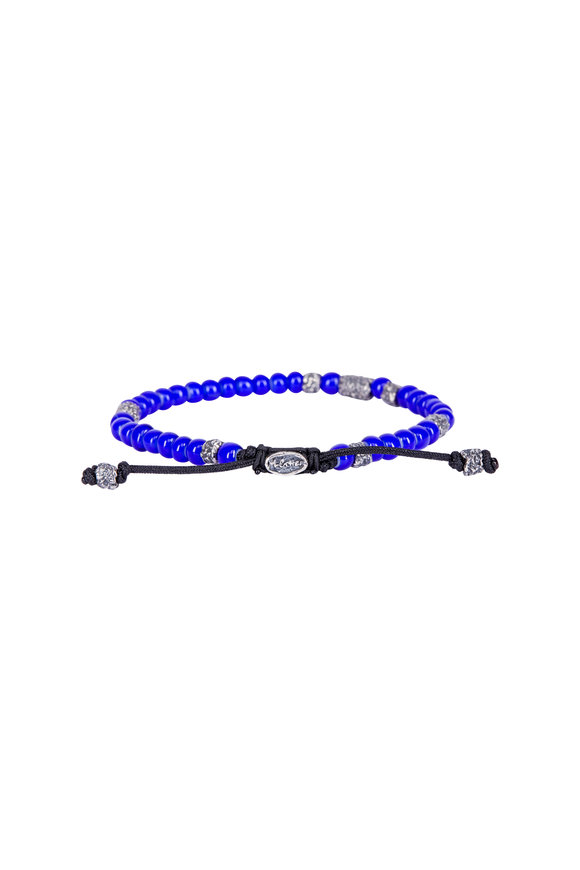 M. Cohen Royal Blue African Glass Bead Bracelet