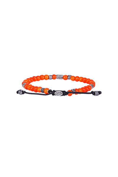 M. Cohen - Orange African Glass Bead Bracelet