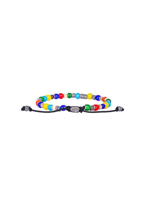M. Cohen Multicolor African Glass Bead Bracelet